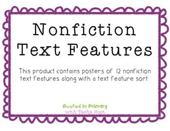 Nonfiction Text Feature Sort & Posters
