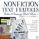Nonfiction Text Features: Posters & Scavenger Hunt