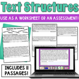Informational Text Structure Assessment (or worksheet)