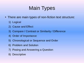 Nonfiction Text Structure - Organizational Structure