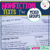 Nonfiction Texts Targeting Articulation & Language {Winter