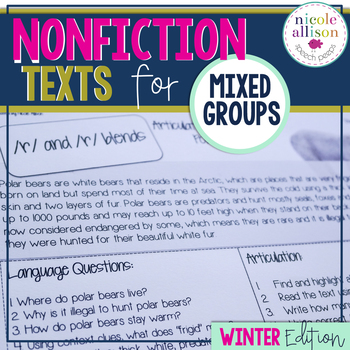Nonfiction Texts Targeting Artic & Language {Winter Edition}