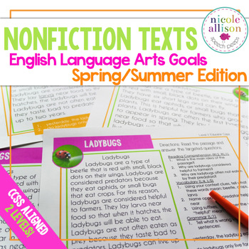 Nonfiction Texts with English Language Arts Targets {Sprin