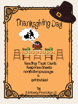Nonfiction Thanksgiving Reading Task Cards & Passages with