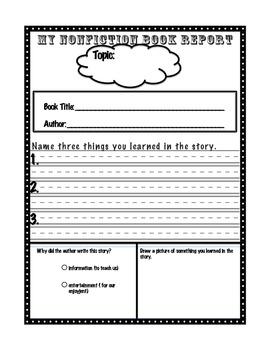 Nonfiction Worksheet