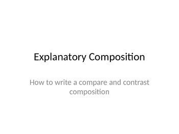 Nonfiction Writing: Compare and Contrast Essay