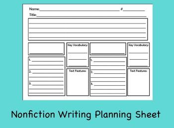 Nonfiction Writing Planning Sheet