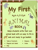 Nonfiction writing for beginners with animal web starter and book