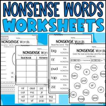 Nonsense Word Activities- Dibels