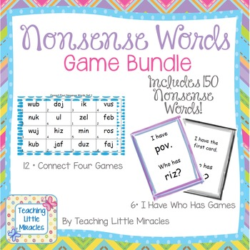 Nonsense Words Game Bundle - Includes 18 games!