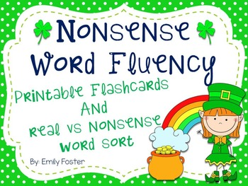 Nonsense Word Flashcards and Real Word Sort for Dibels - March