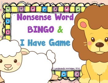 Nonsense Word Fluency  Game Pack - Lions and Lambs by Ms.