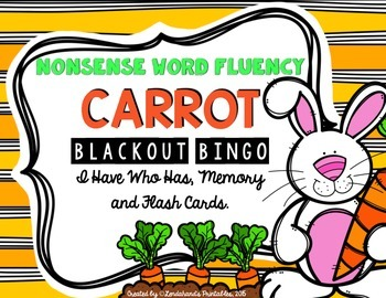Nonsense Word Fluency Game Pack - Carrots by Ms. Lendahand