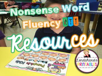 Nonsense Word Fluency BLACKout Bingo Game (Pumpkin Kids Theme)