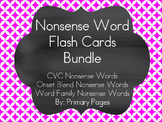 Nonsense Word Fluency Flash Card/ Pocket Chart BUNDLE