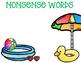 Nonsense Word Fluency -Summer Edition