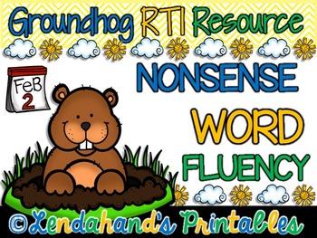 Nonsense Word Fluency Teacher Pack (Groundhog Theme) by Ms
