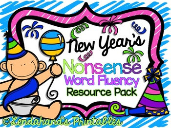 Nonsense Word Fluency Teacher Pack (New Year's Theme for January)