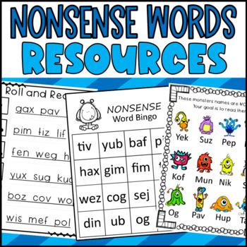 Nonsense Word Maze- Practice for Dibels