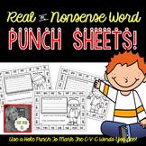 Nonsense Word Punch Sheets!