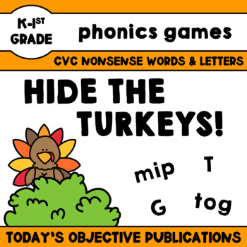 Nonsense Words Game - Hide the Turkeys!
