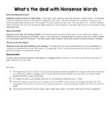 Nonsense Words Homework