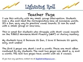 Nonsense Words Lightning Roll