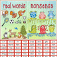 Nonsense Words / Real Words Sorting Activity - reading flu