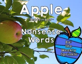 Nonsense Words Sort Apples - September