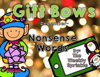 Nonsense Words Sort Gift Bows - December