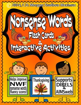 Nonsense Words - Thanksgiving - Interactive Activities. (f