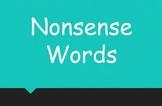 Nonsense Words {Whiteboard Version}