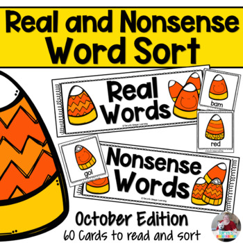 Nonsense Words and Real Words Sort- Halloween