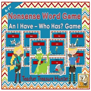 Nonsense Words card GAME I have who has  35 cards with pic