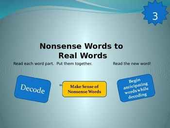 Nonsense Words to Real Words Level 3