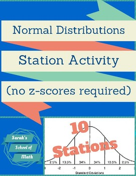 Normal Distributions Station Activity: 10 stations! (No z-