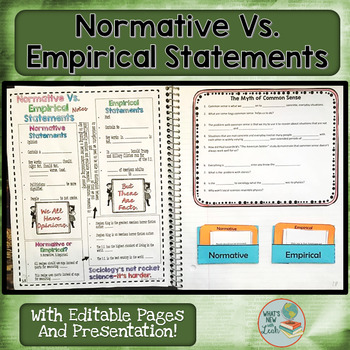 Normative Vs. Empirical Statements Presentation, Notes, an