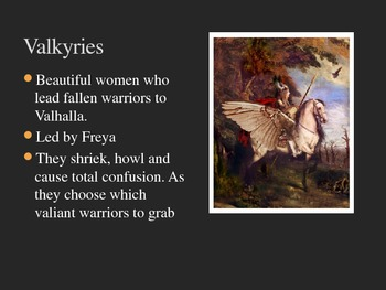 Norse Mythology PowerPoint *To Accompany Reading Packet and Quiz