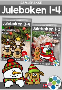Norsk: Juleboken - SAMLEPAKKE 1-4 - norsk, matte og oppgav