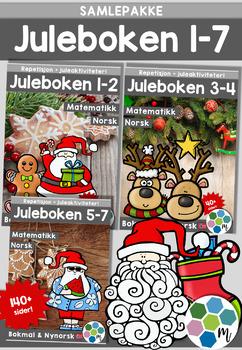 Norsk: Juleboken - SAMLEPAKKE 1-7 - norsk, matte og oppgav