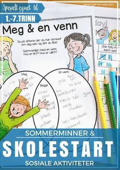 Norsk Skolestartpakke - Opplegg + sosiale aktiviteter [BM & NN]