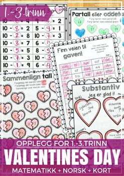 Norsk Valentine-pakke - SMÅTRINNET [BM & NN]