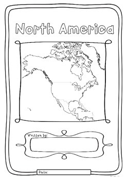 North America 23 Countries Study - worksheets maps and fla