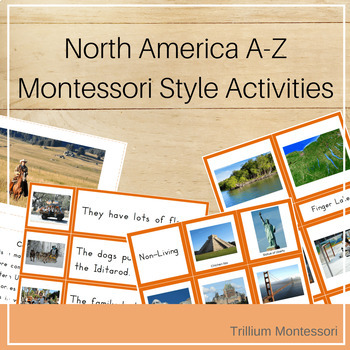 North America A-Z Montessori Pack