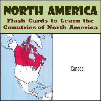 North America - Country Flash Cards - Learn the Countries