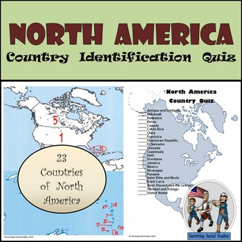 North America - Country Identification Quiz