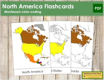 North America Flash Cards
