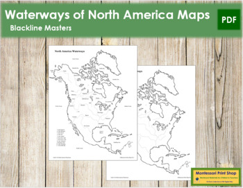 North America Waterways Map