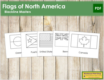 North American Flags: Outlines