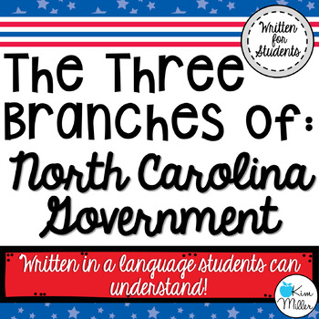 North Carolina 3 Branches of Government